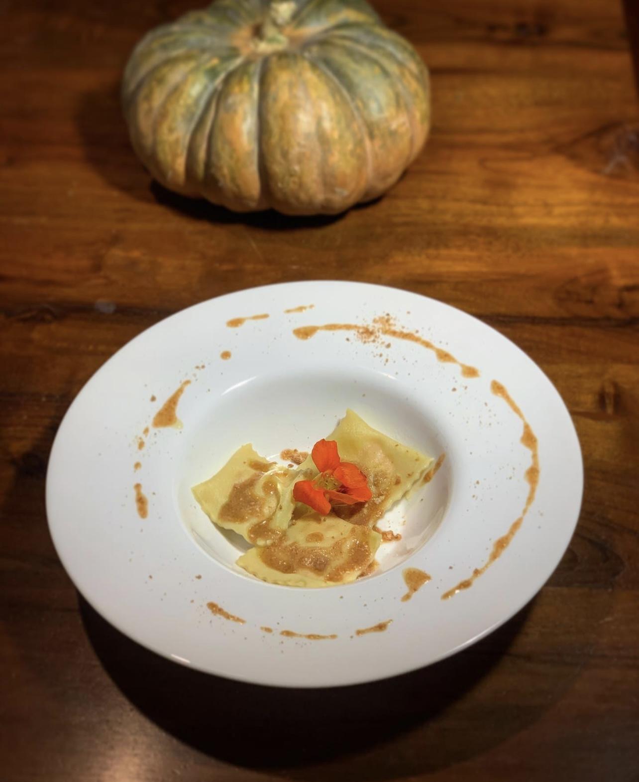Dolcegiuridica, ricetta dei ravioli zucca e amaretto