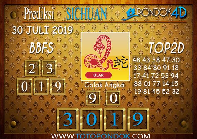 Prediksi Togel SICHUAN PONDOK4D 30 JULI 2019
