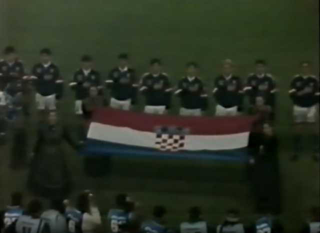 Champagne Kit Campaigns 8 Croatia World Cup 98 Qualifiers Pyro On The Pitch Com