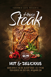 84-Steak-house-flyer