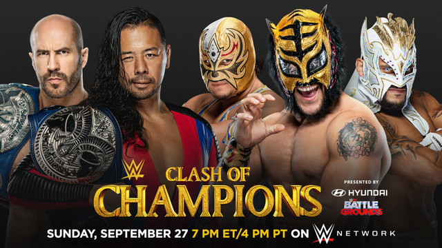 Cesaro y Shinsuke Nakamura (c) vs. Lucha House Party
