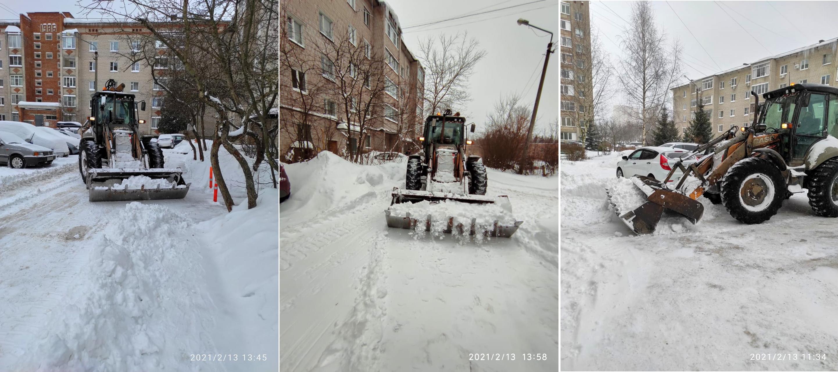 Ликвидация последствий рекордного снегопада в микрорайоне Северный