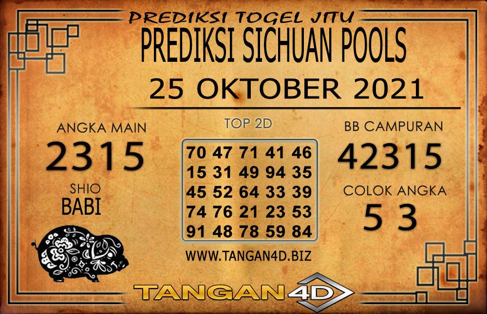 PREDIKSI TOGEL SICHUAN TANGAN4D 25 OKTOBER 2021