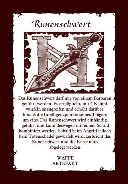 Artefakt-Runenschwert