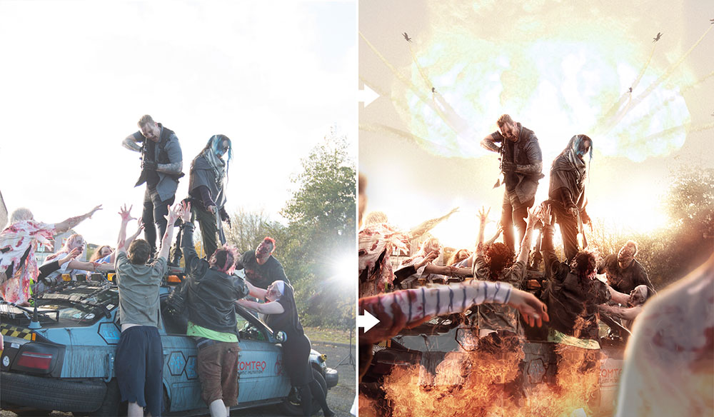 zompocalypse before after clinton lofthouse hollywood processing photoshop video training
