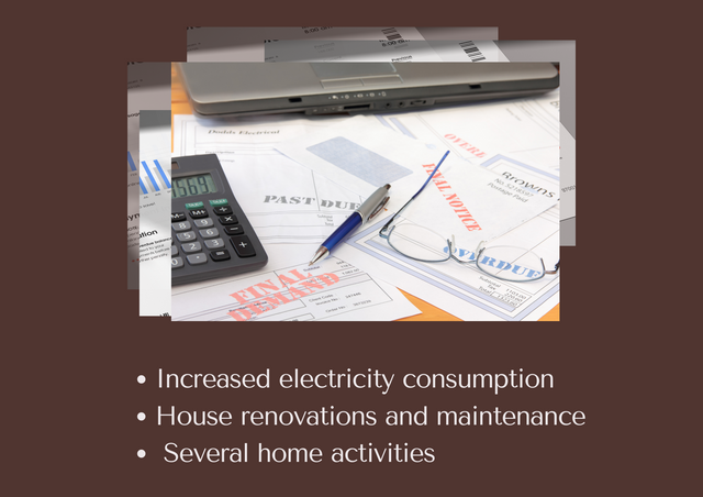 Increased-electricity-consumption-House-renovations-and-maintenance-Several-home-activities