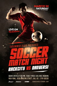 88-Soccer-match-night-flyer
