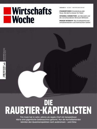 Cover: Wirtschaftswoche Magazin No 32 vom 06  August 2021