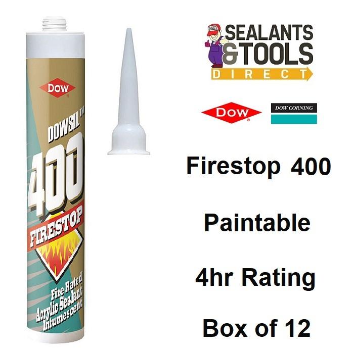 Dow Corning Dowsil Firestop 400 Intumescent Acrylic Sealant Box of 12