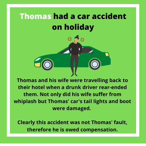 Case study of a car accident abroad