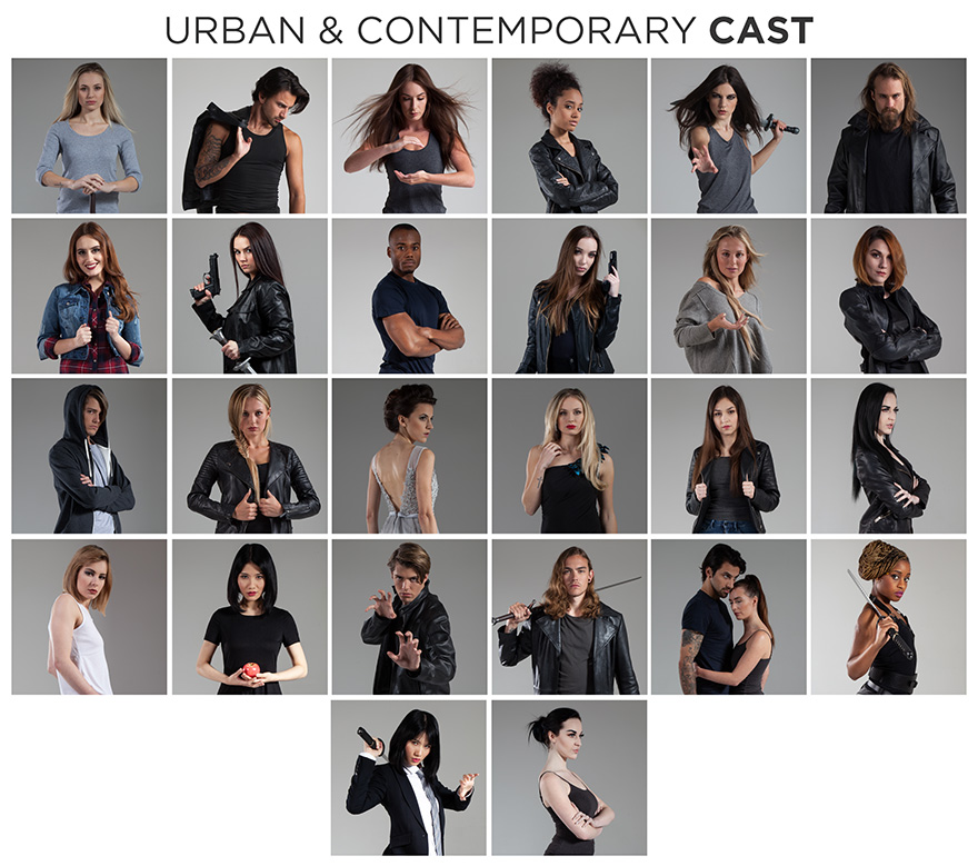 urban and contemporary stock photo bundle cast members