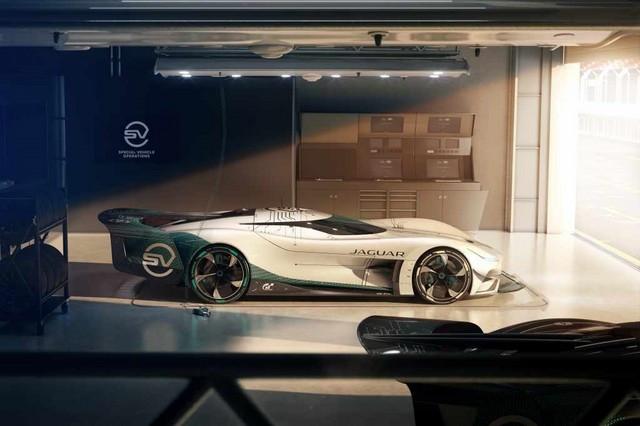 Jaguar Lève Le Voile Sur La Vision Gran Turismo SV : La Voiture De Course 100% Électrique Ultime Pour Les Passionnés De Course Automobile Jag-GTSV-In-Pit-161220