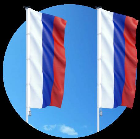 """Изготовление качественных флагштоков для флагов от компании """"Регион Медиа"""""""