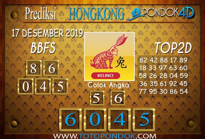 Prediksi Togel HONGKONG PONDOK4D 17 DESEMBER 2019