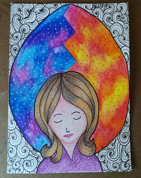two universe doodle art