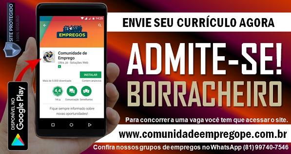 BORRACHEIRO PARA EMPRESA DO SEGMENTO AUTOMOTIVA NA REGIÃO METROPOLITANA