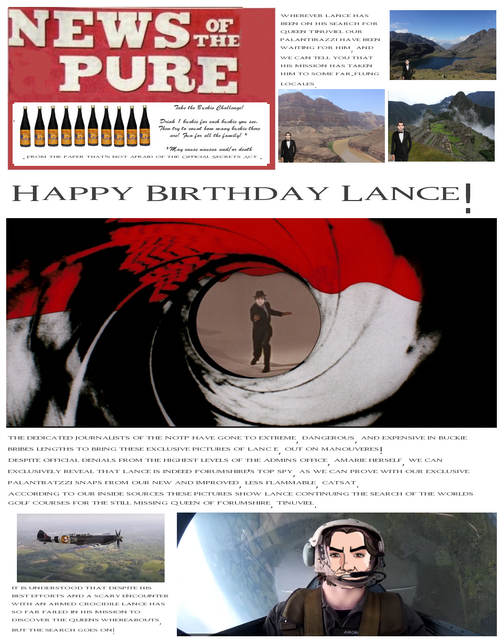 Happy birthday, Lance! Lance
