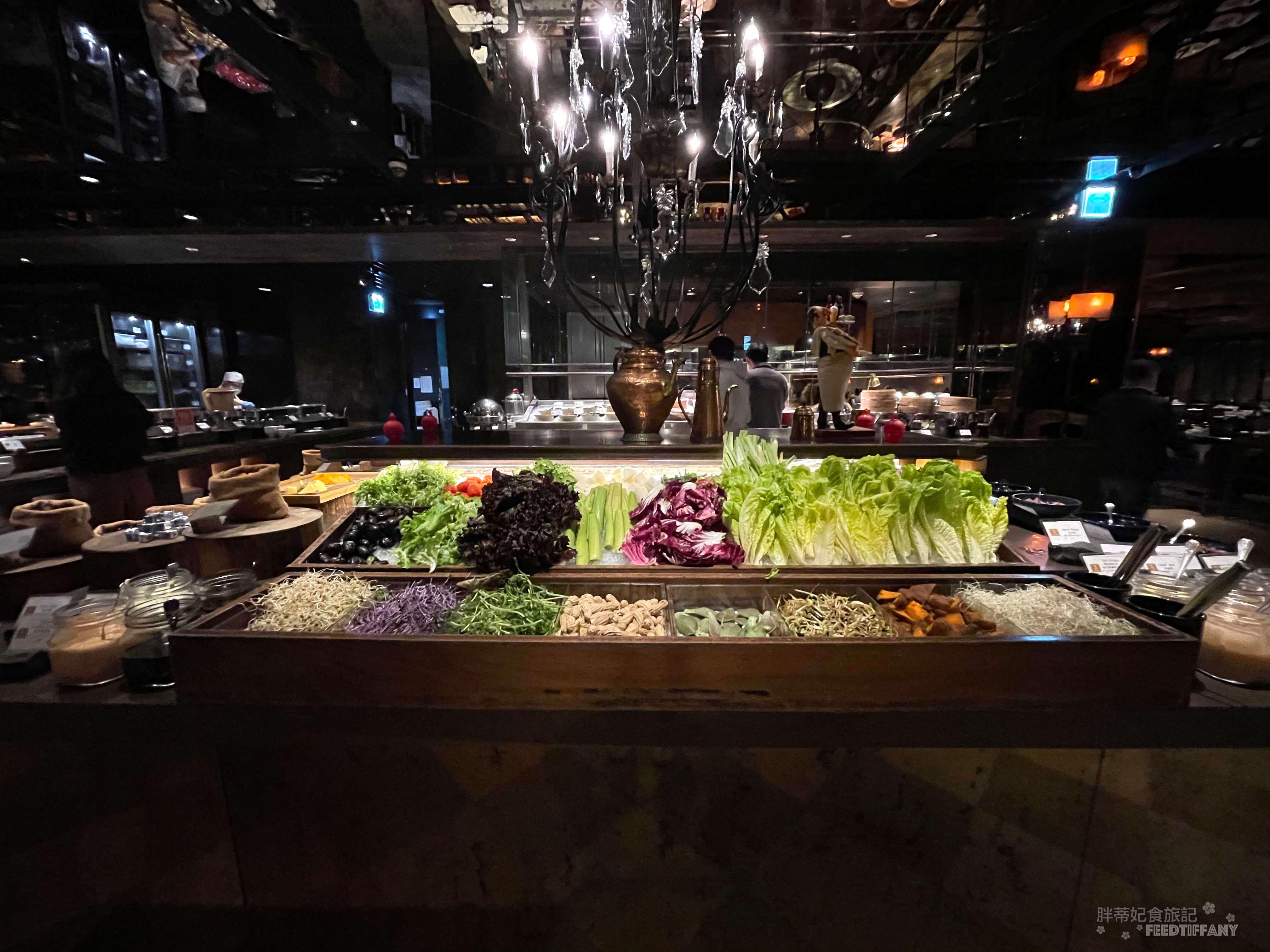 台北君品酒店 色彩豐富的生菜沙拉吧