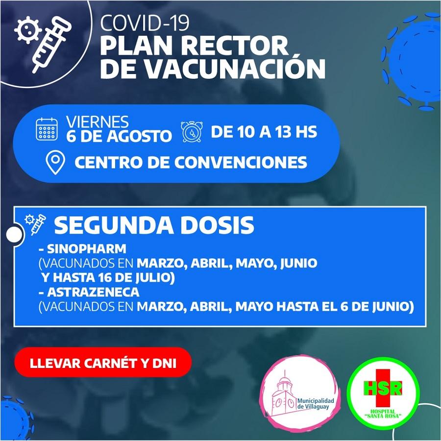 Covid-19: Nueva jornada de vacunación con segundas dosis