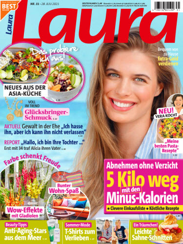 Cover: Laura Frauenmagazin No 31 vom 28  Juli 2021