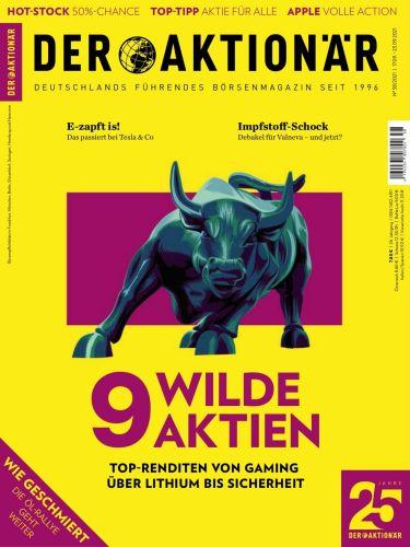 Cover: Der Aktionär Magazin No 38 vom 17  September 2021