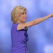 Laura Ingraham giving the NAZI salute at the 2016 GOP convention.