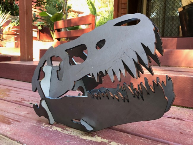 DINOSAUR GARDEN ART DISPLAY PLASMA CUT STEEL 4