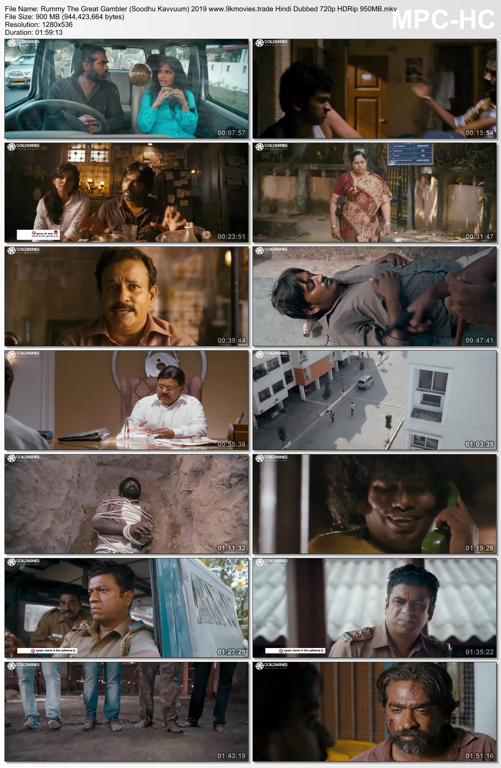 Rummy The Great Gambler (Soodhu Kavvuum) 2019 Hindi Dubbed 720p HDRip 950MB Download