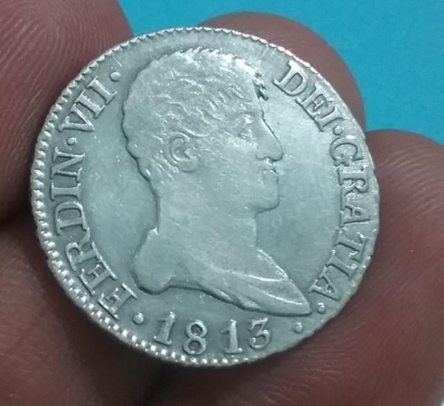 2 Reales de Fernando VII, de 1813. Madrid. Busto desnudo. B7-F6-B46-E-2308-4-D89-A542-164717035-DFB