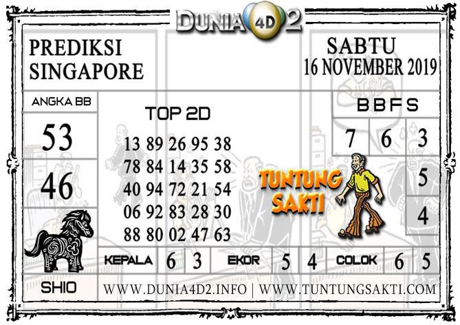 """Prediksi Togel """"SINGAPORE"""" DUNIA4D2 16 NOVEMBER 2019"""