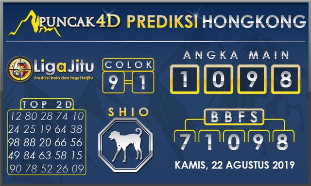 PREDIKSI TOGEL HONGKONG PUNCAK4D 22 AGUSTUS 2019