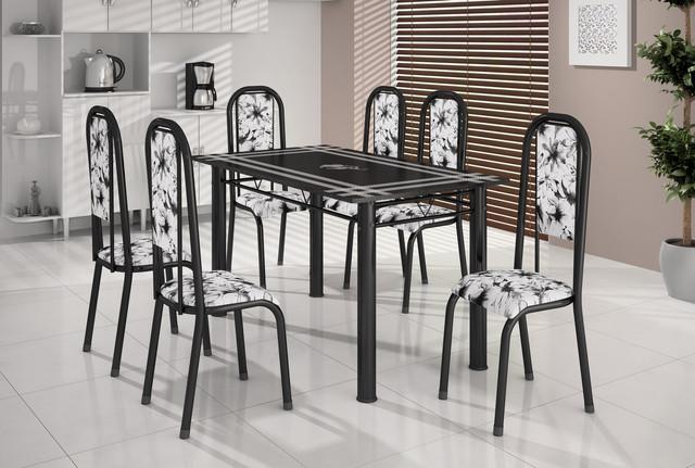 Conjunto de Mesa 6 Cadeiras 140x75 BM