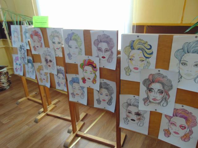 Выставка творческих работ учащихся  «Фантазийный макияж»
