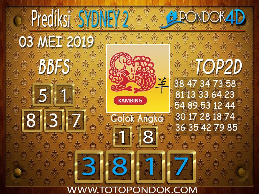 Prediksi Togel SYDNEY 2 PONDOK4D 03 MEI 2019