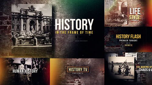 History Fast Flash Opener 28122258 - Project for After Effects (Videohive)