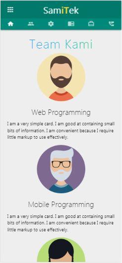 company profile responsive