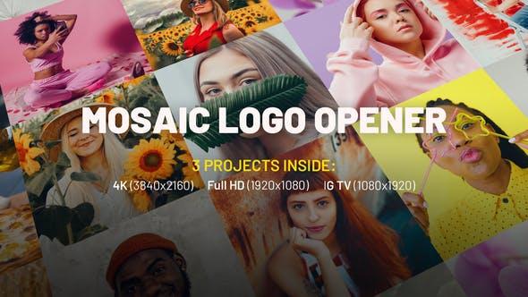 Videohive - Mosaic Logo Opener - 32004415