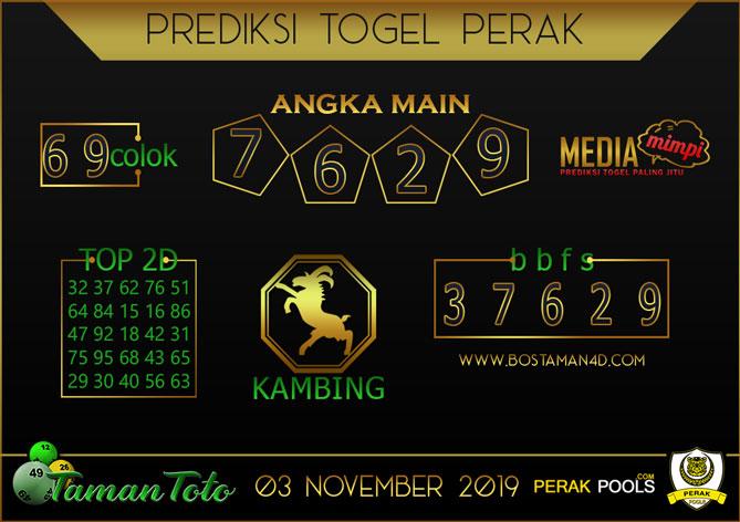 Prediksi Togel PERAK TAMAN TOTO 03 NOVEMBER 2019