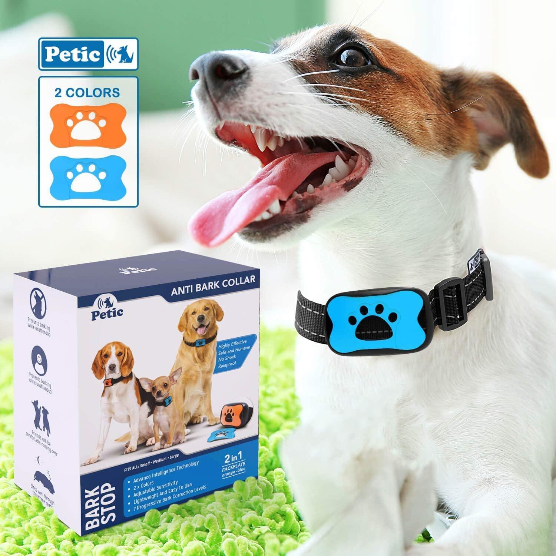 Adiestramiento para Perros Collar Antiladridos Excesivos | Entrenamiento Canino sin Choques Eléctricos con Sonido y Vibración Seguro y Humano | Ideal en Razas Pequeñas Medianas y Grandes