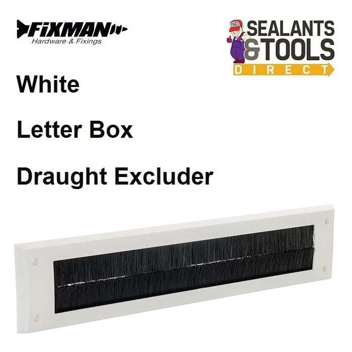 Fixman-White-Letterbox-Draught-Seal-Brushed-750692