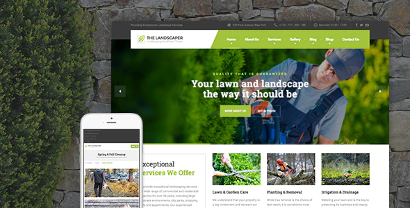 ThemeForest - The Landscaper v1.8.3 - Lawn & Landscaping WP Theme - 13460357
