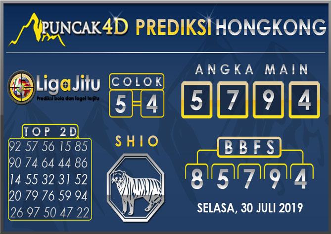 PREDIKSI TOGEL HONGKONG PUNCAK4D 30 JULI 2019