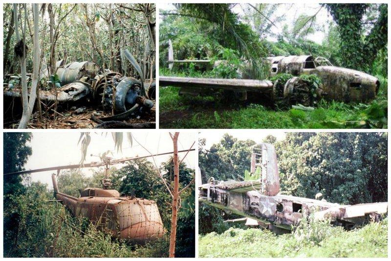В джунглях и лесах заброшенные, кладбище, самолеты, факты
