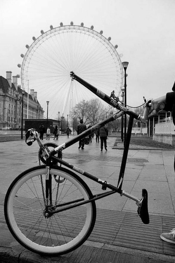 колесо обозрения вместо колеса велосипеда