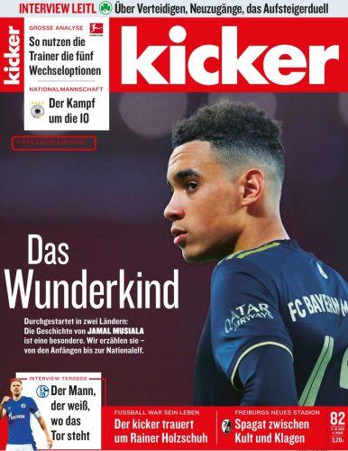 Cover: Kicker Sportmagazin No 82 vom 11  Oktober 2021