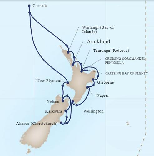 Жаркое лето в январе: Новая Зеландия в круизе на HAL Maasdam