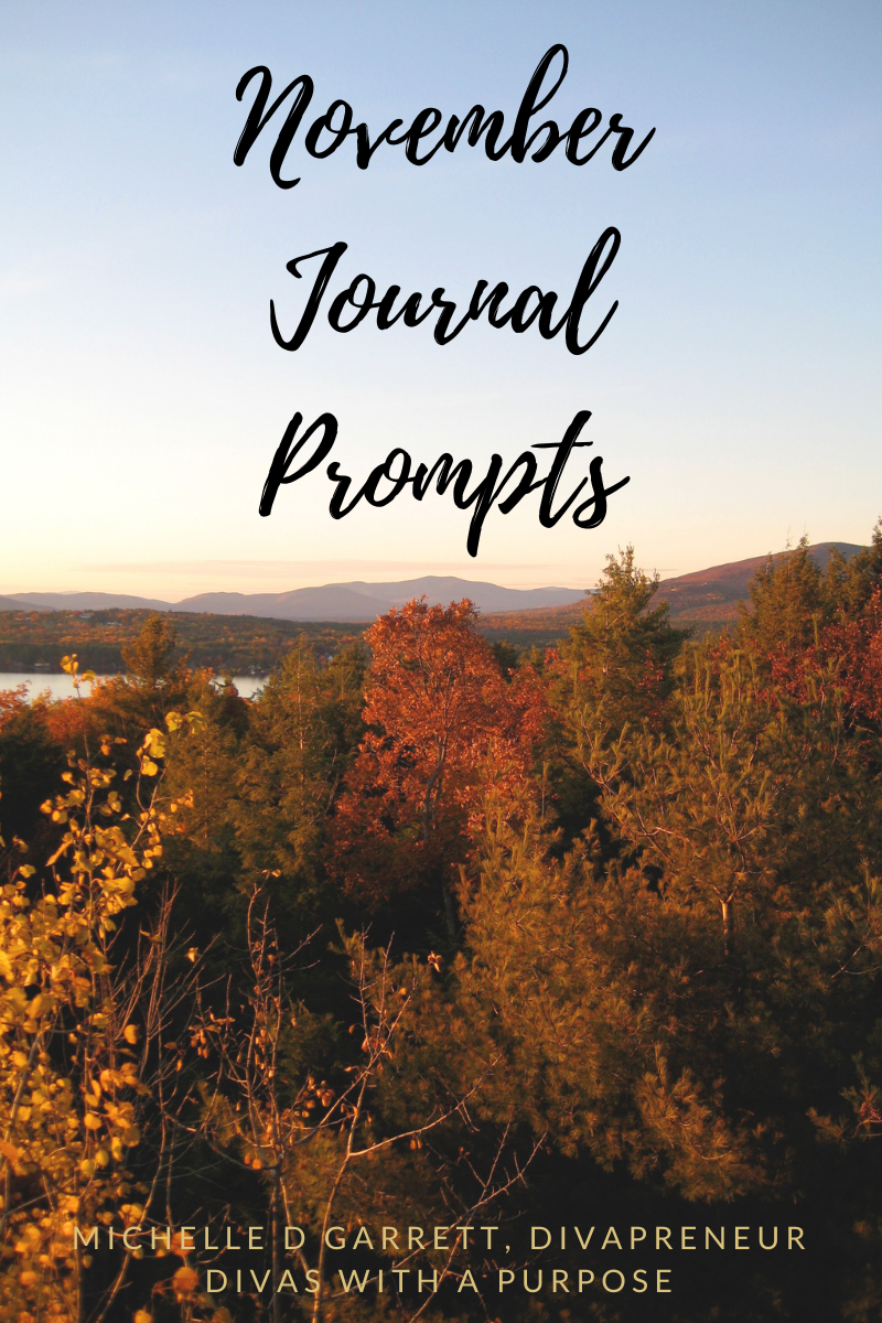 November Journal Prompts to use for family and business #journalprompts