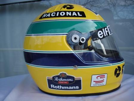 1994 ayrton senna f1 grand prix race helmet poster dvd 1