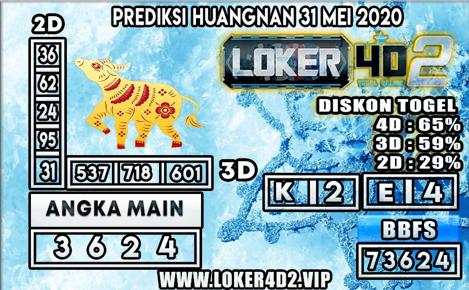 PREDIKSI TOGEL HUANGNAN LOKER4D2 31 MEI 2020