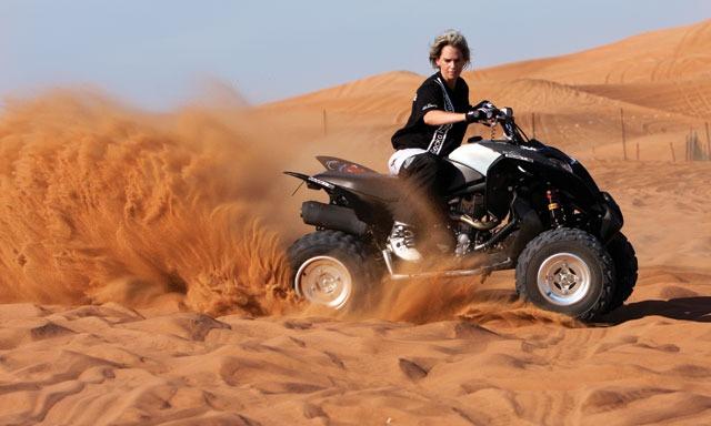 Quad Bike Drive in Desert